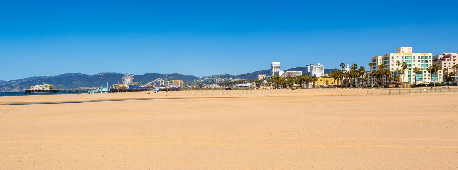 Santa Monica strand i Los Angeles royaltyfria foton