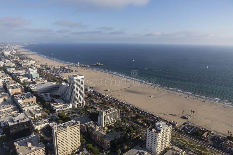 Santa Monica Sunny Summer Afternoon Aerial stockbild