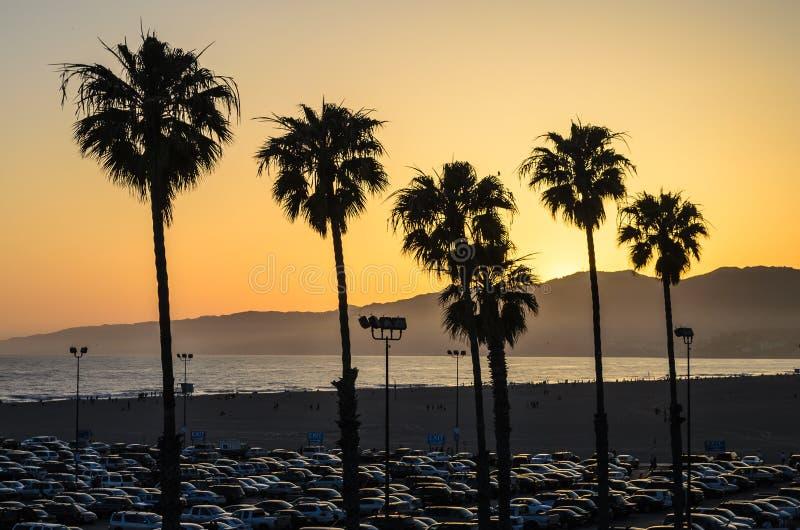 Santa Monica Sunset stockbild