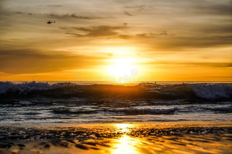 Santa Monica Sunset. In California royalty free stock photos