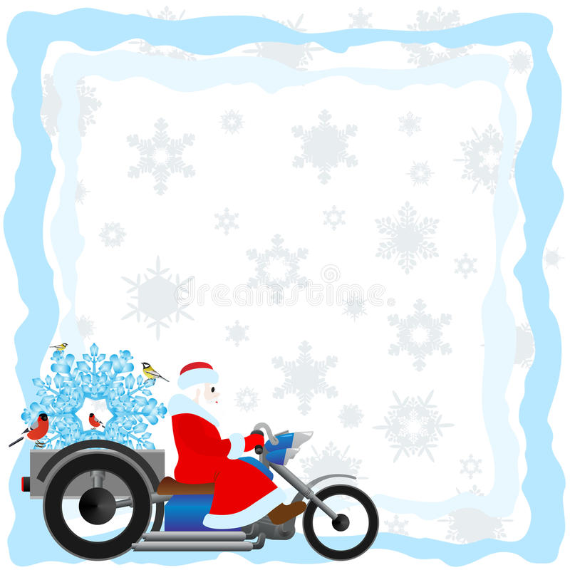 Download Santa on a motorcycle stock vector. Image of cold, collar - 26605736