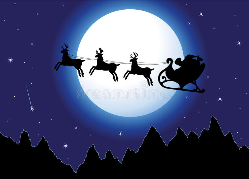 Santa and mountains royalty free stock photos
