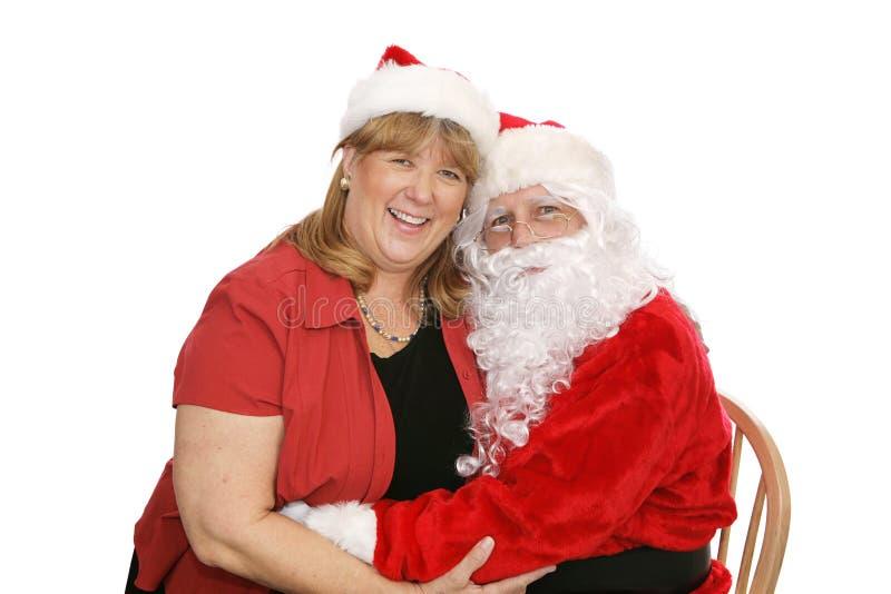Santa & The Mrs Stock Photos