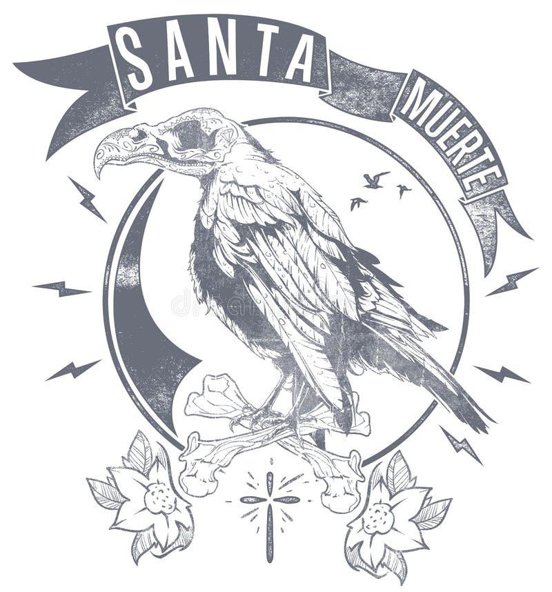 Santa Muerte goniec ilustracja wektor