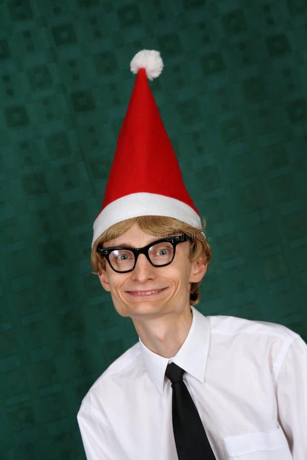 Santa nerdy photo libre de droits