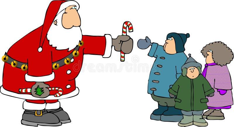 Santa niektóre dzieci royalty ilustracja