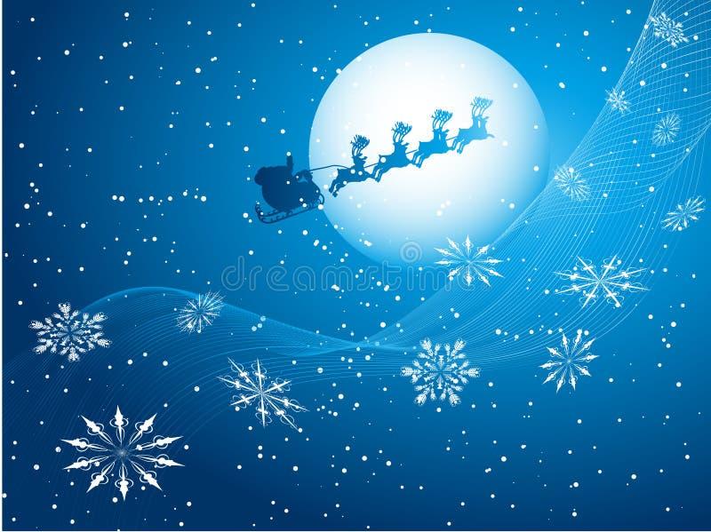 Santa no céu ilustração royalty free