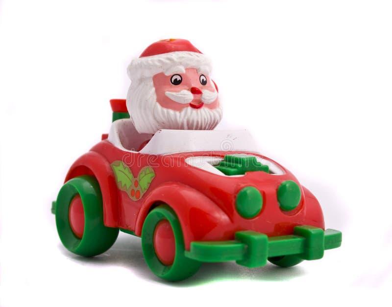 Santa no carro foto de stock