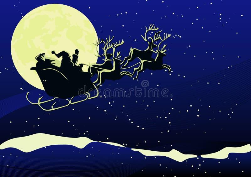Santa no Natal ilustração stock