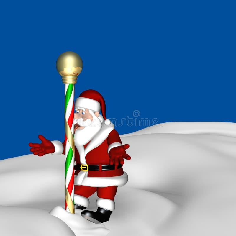 Santa North Pole 2 vector illustration