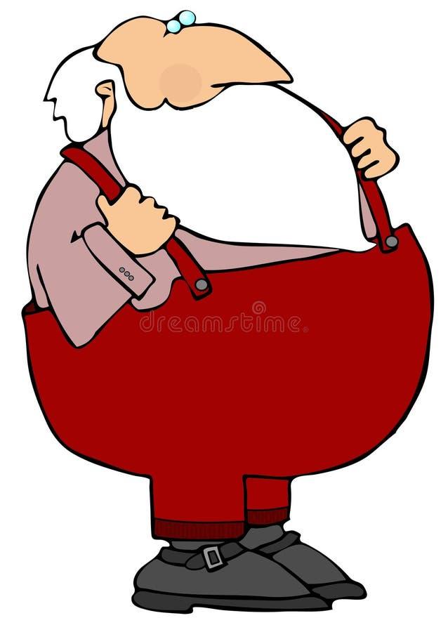 Santa occasionnelle illustration de vecteur
