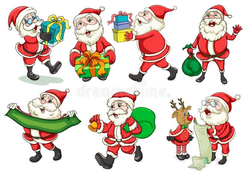 Santa occupata royalty illustrazione gratis
