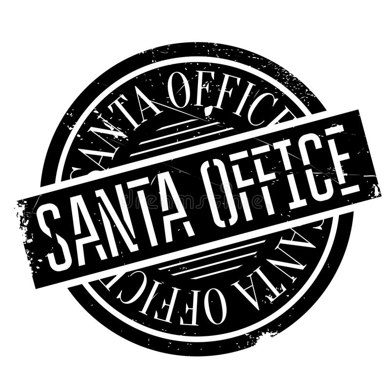 Santa Office rubber stamp. Grunge design with dust scratches. Effects can be easily removed for a clean, crisp look. Color is easily changed stock illustration