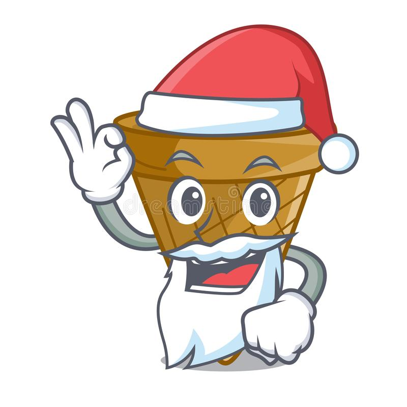 Santa opłatka słodki rożek odizolowywający na maskot royalty ilustracja