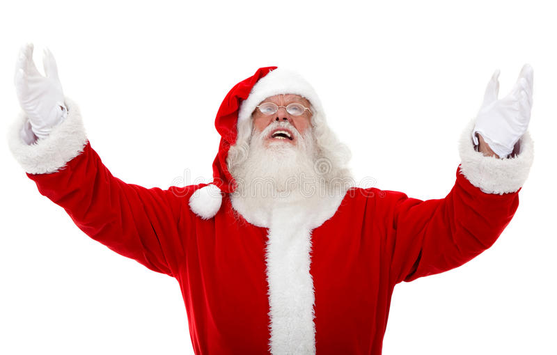 Download Santa with open arms stock photo. Image of isolated, gloves - 11957962