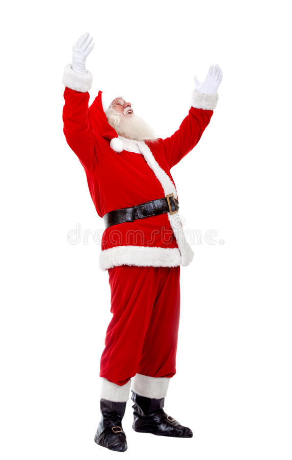 Download Santa with open arms stock photo. Image of smile, white - 11958240