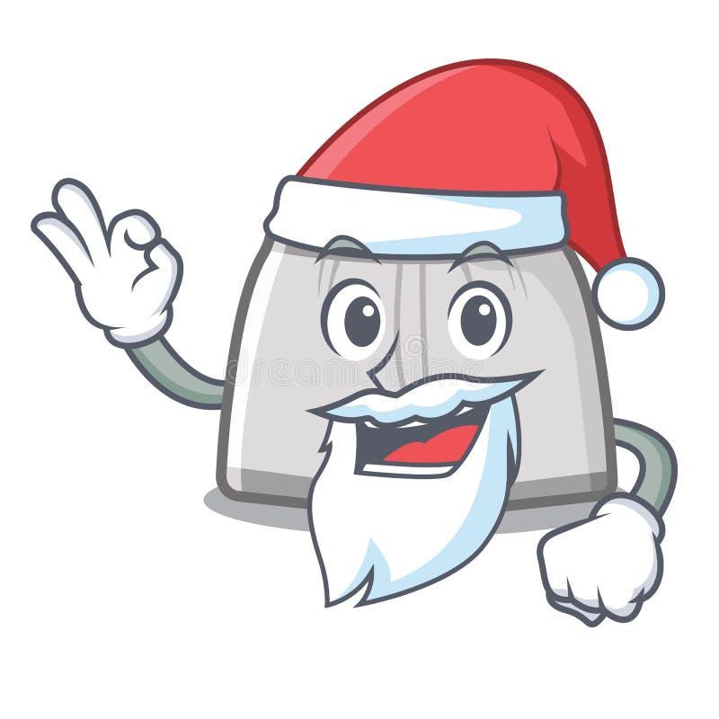 Santa pływacki bagażnik w kreskówki szafce ilustracja wektor