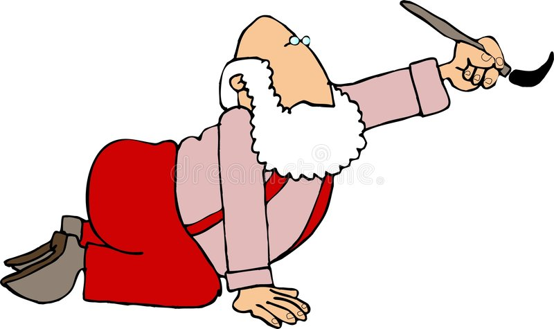 Santa painting vector illustration