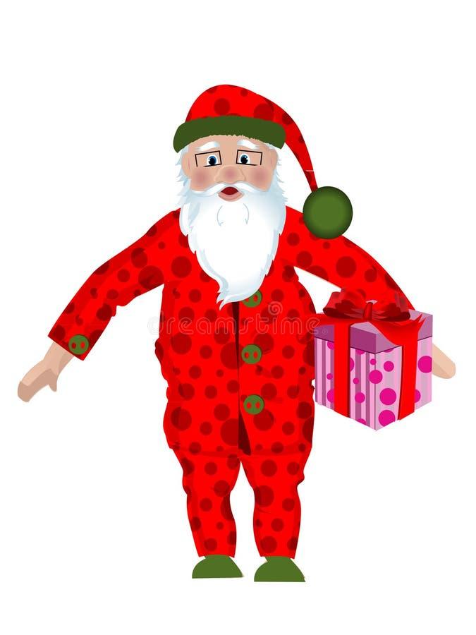 Download Santa in pajamas stock vector. Illustration of character - 16304559