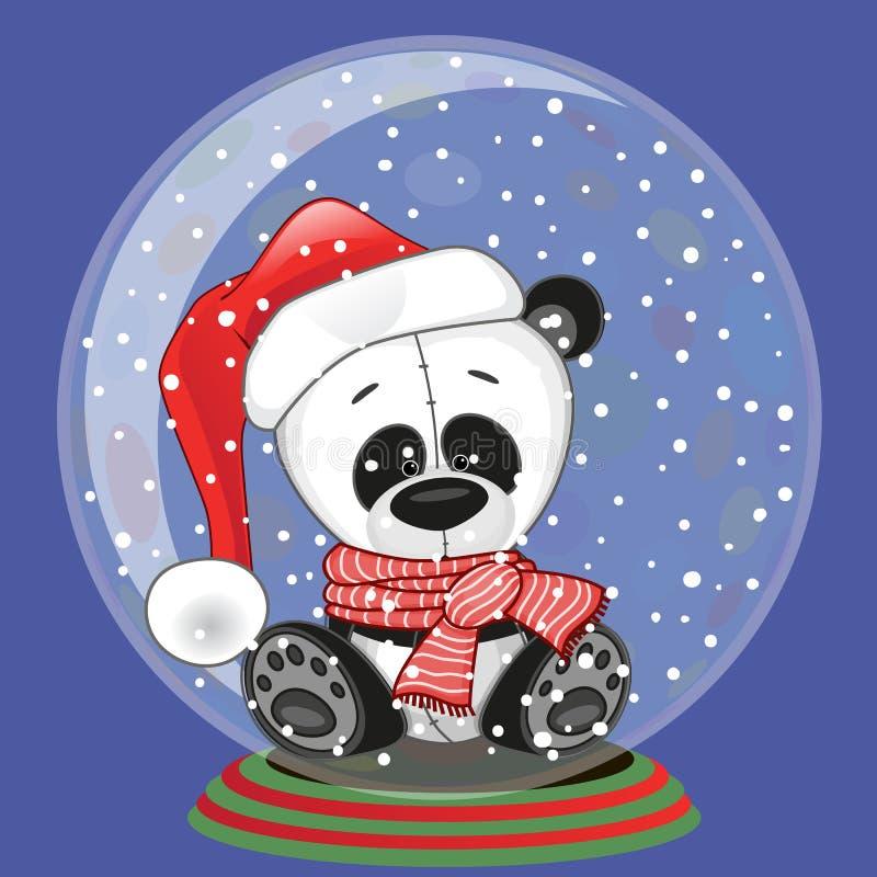 Santa panda royalty ilustracja