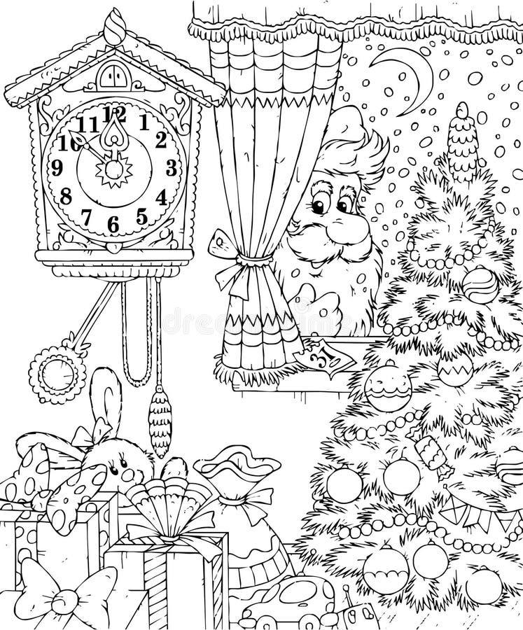 Free Santa Peers Into The Window Royalty Free Stock Photo - 14265255