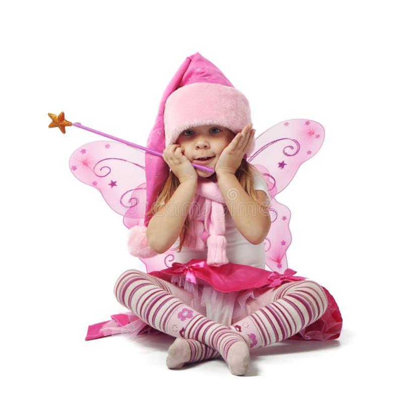 Santa pequena adorável fotografia de stock royalty free