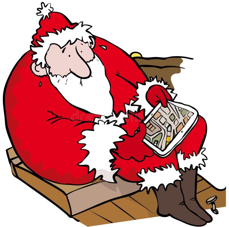 Santa perdue illustration libre de droits