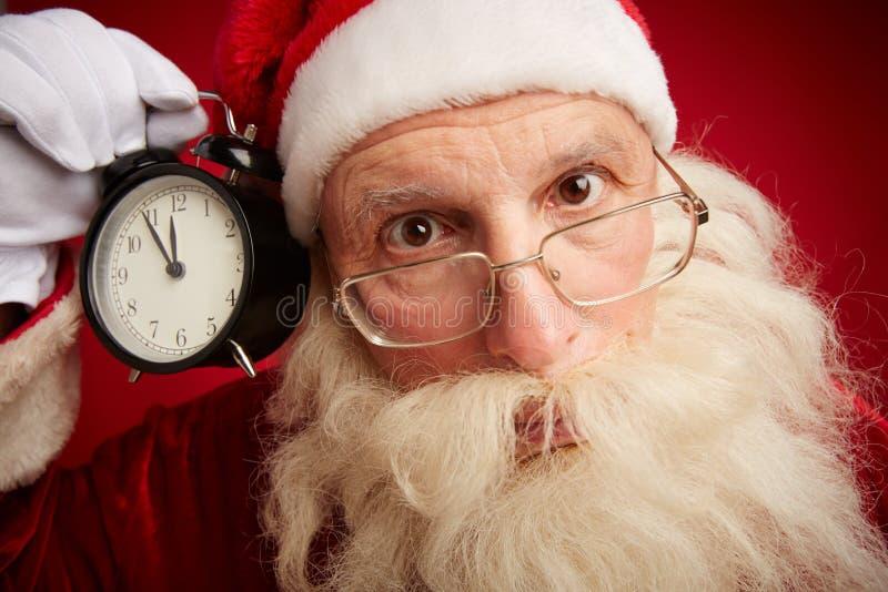 Santa perplexe images libres de droits