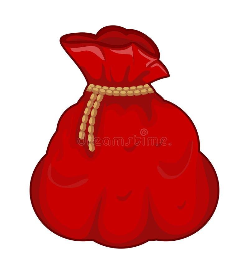 Santa pieniądze torba, workowy wektorowy symbol ikony projekt royalty ilustracja