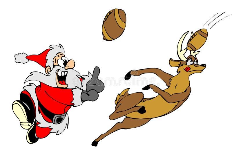 Santa Play Handball Royalty Free Stock Photo