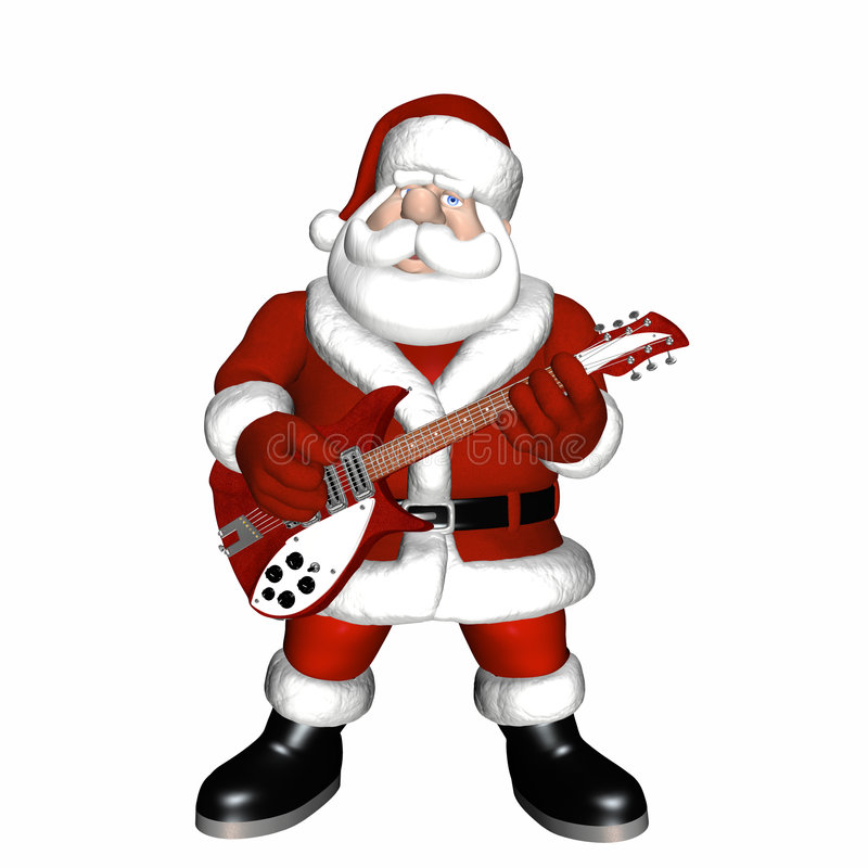 Free Santa Playing A Guitar 1 Stock Images - 1525544