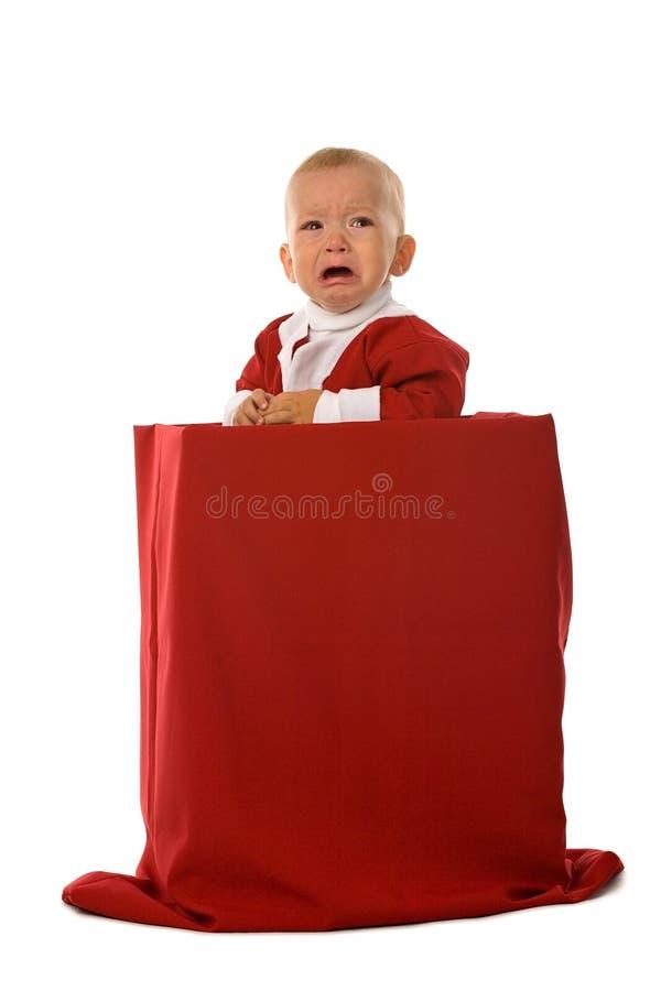 Santa pleurante photographie stock libre de droits