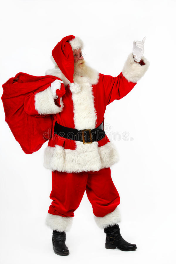 Santa Pointing stock photos