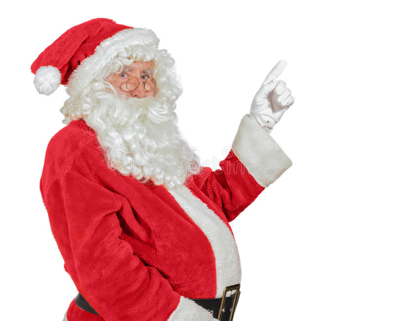 Santa Pointing stock images