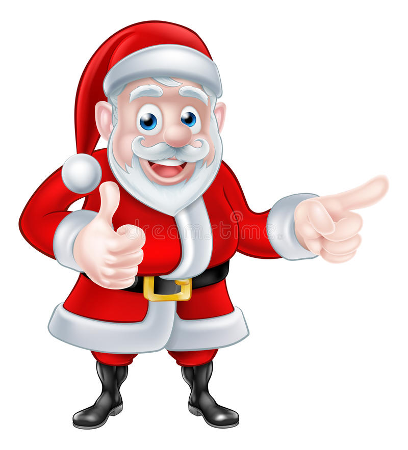 Santa Pointing Thumbs Up ilustração royalty free