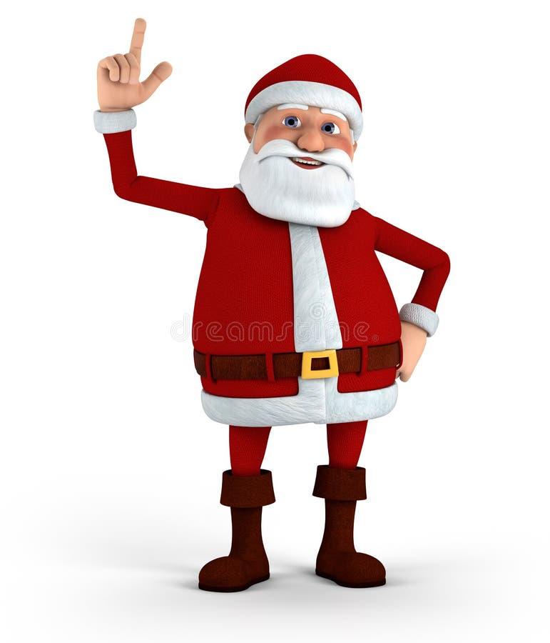 Santa pointing up stock illustration