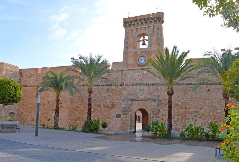 Santa Pola Castle stock afbeelding
