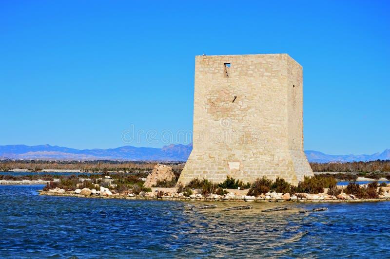 Santa Pola Watchtower photo libre de droits