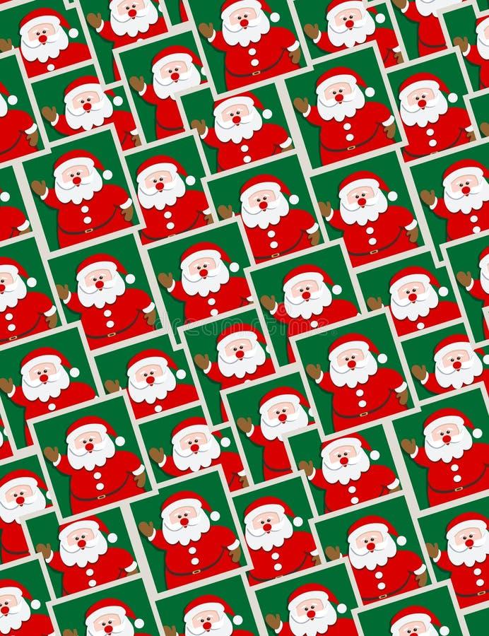 Santa portraits - seamless pattern