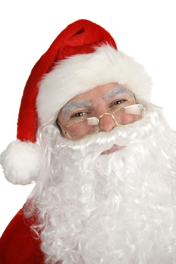 Santa portret się uśmiecha zdjęcia stock