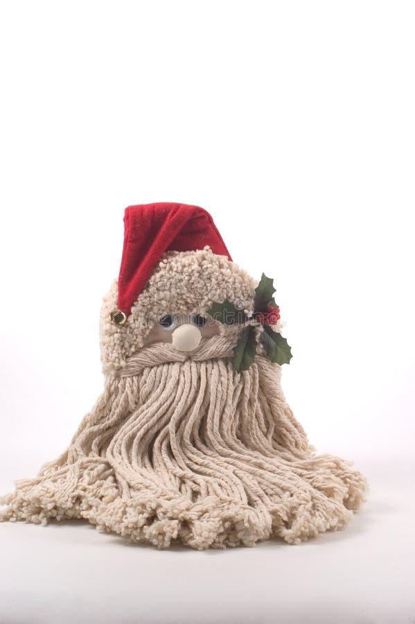 Santa powiesić ścianę zdjęcie royalty free