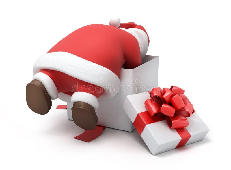 Santa prepara presentes ilustração do vetor