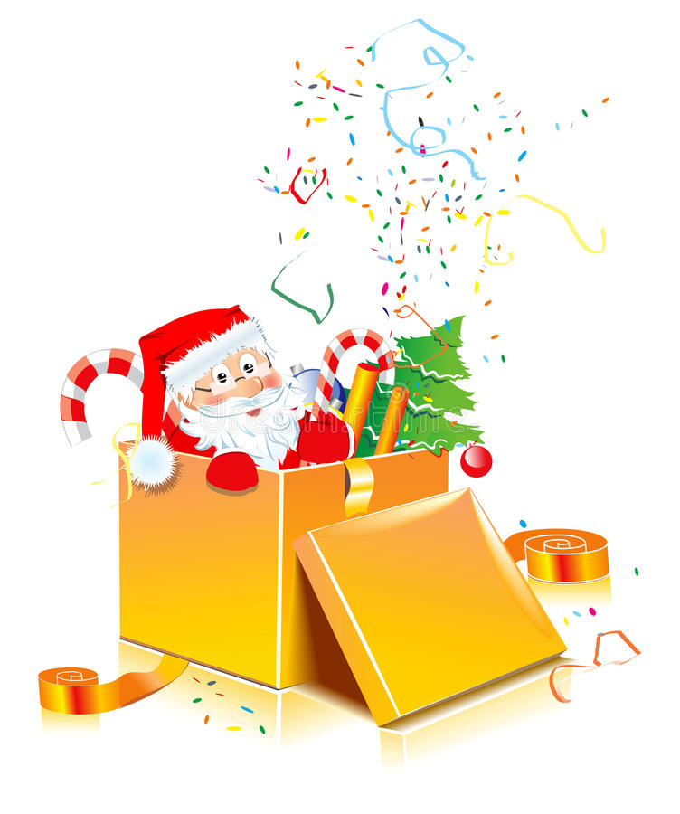 Santa present stock photo