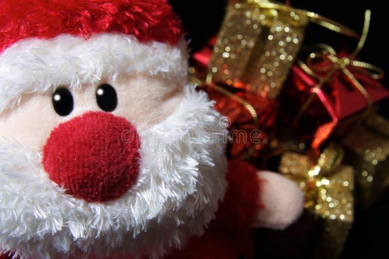 Santa + Presents stock photo