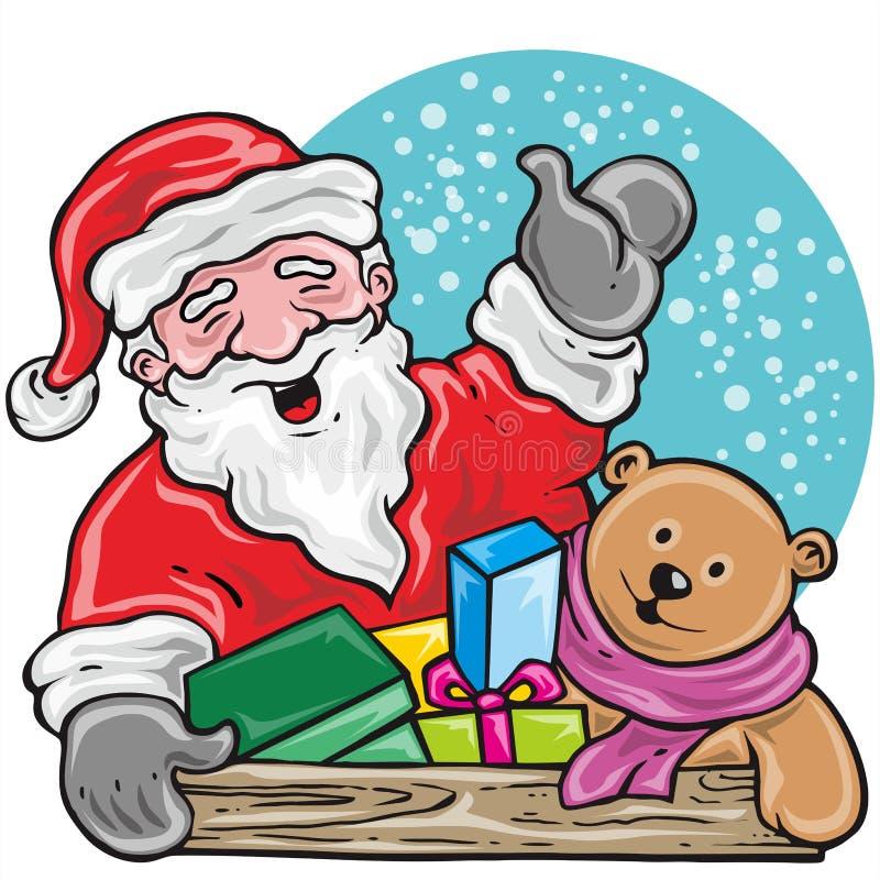 Santa prezent zdjęcie royalty free