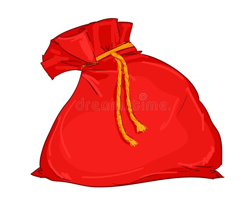 Santa prezenta torba ilustracja wektor