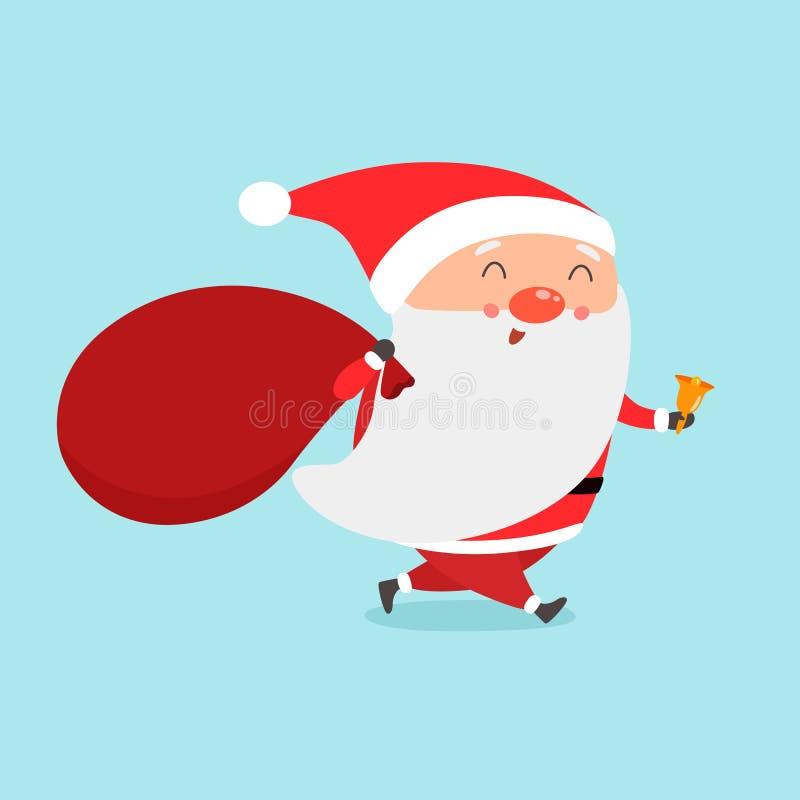 Santa przyjść claus śliczny Santa ilustracja wektor