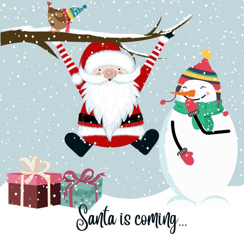 Santa przyjść royalty ilustracja