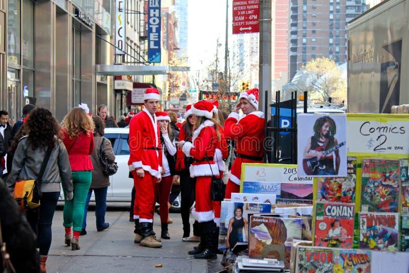 Santa Pub Crawl, Manhattan, NYC Editorial Stock Photo