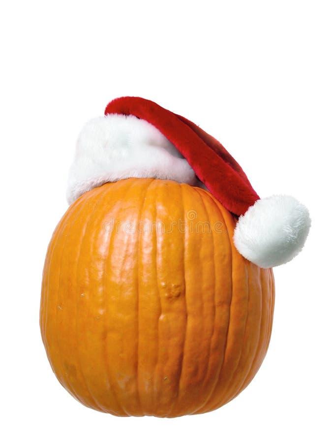 Santa Pumpkin royalty free stock photos